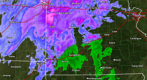 Radar (Rain/Snow) at 5:50 a.m.