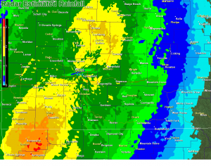 Radar Estimated Rain as of 10:15 a.m.