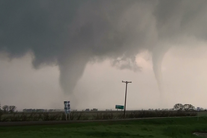 Old/New Tornado Near Cherokee, Oklahoma