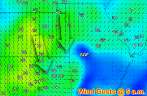 Wind Gusts at 5 a.m.