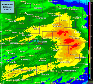 Radar Rain Estimates For Friday/Early Saturday