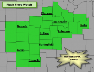 Flash Flood Watch for Later Today, Tonight and Thursday