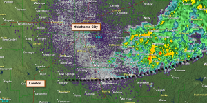 Outflow Area in Oklahoma at 6:30 a.m.