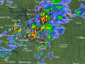 Radar/Lightning at 7:40 a.m. (click for latest image)
