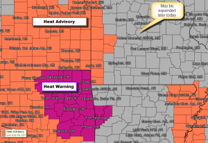 Heat Advisories Today