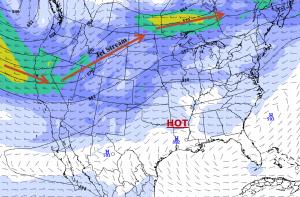 Forecast Jet Stream Tuesday