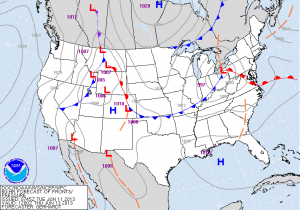 Forecast Weather Map on Thursday Morning