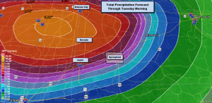 Weather Prediction Center Rain Projection Through Tuesday A.M.