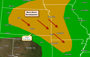 Slight Risk of Severe Storms Today