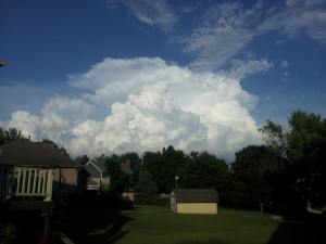 Storm Blow-Ups Yesterday East of Springfield