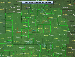 Flash Flood Watch Area