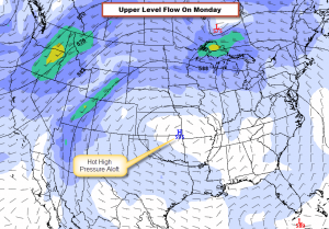 Forecast for Flow Aloft on Monday