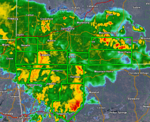 Radar and Flash Flood Warnings at 6:30 a.m.