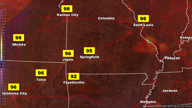 Peak of the Heat This Week