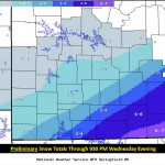 Winter Storm Brings Snow And Sleet To The Ozarks
